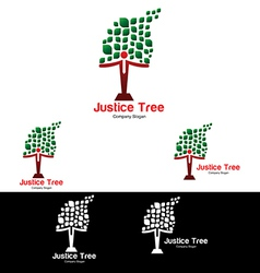 Justice tree logo templates vector