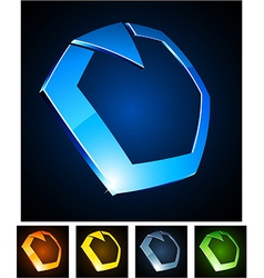 3d ring emblems vector image vector image