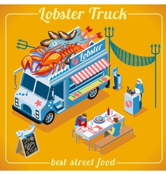 Food truck 03 vehicle isometric vector