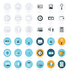 Flat design icons set 4 styles vector