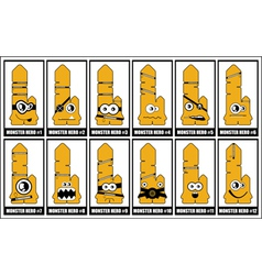 cartoon characters vector image