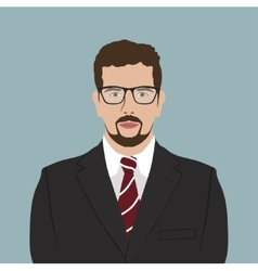 Businessman Portrait Flat Design vector image