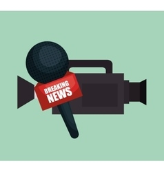 Camera microphone equipment news job graphic vector