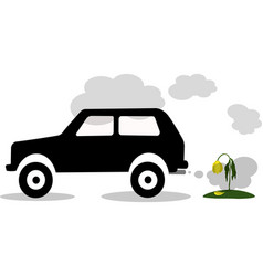 car exhaust co2 smoke vector image