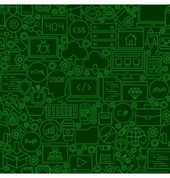 Coding Green Line Seamless Pattern vector image vector image