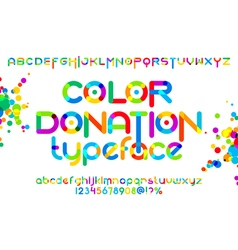 Color donation typeface 01 vector
