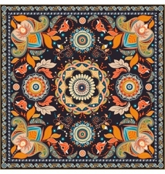 Colorful design for shawl paisley pattern vector