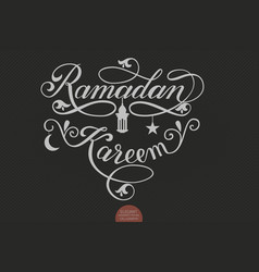 Elegant lettering ramadan kareem muslim vector
