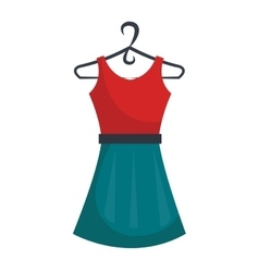 Fashion woman dress isolated icon vector image vector image
