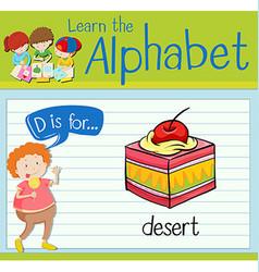 Flashcard letter d is for desert vector