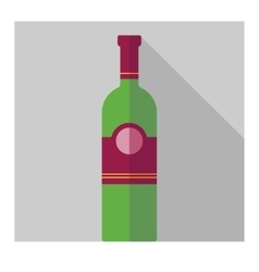flat vine bottle vector image