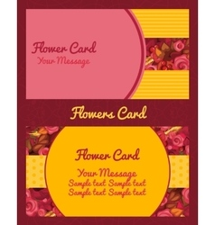Flower design business card vector