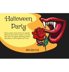 Halloween Vampire Party Poster vector image vector image