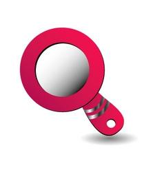 hand mirror logo vector image vector image