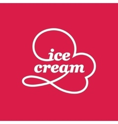 Ice cream cone logo vector