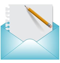 Letter and open envelope vector image vector image
