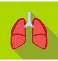 Lungs icon flat style vector image vector image