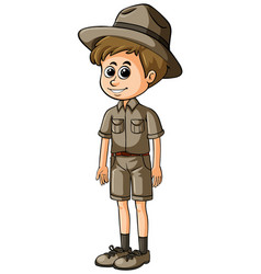 Man in safari outfit with happy face vector