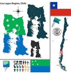 Map of los lagos vector