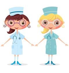 Nurse with stethoscope vector image