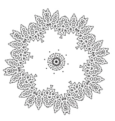 Ornamental lace pattern Abstract ornament Orient vector image