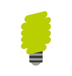 Save bulb isolated icon vector