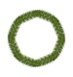 Silhouette circular of christmas pine wreath vector