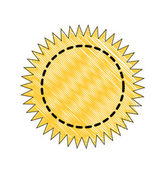 stamp round label vector image vector image
