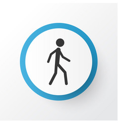 walking icon symbol premium quality isolated vector image