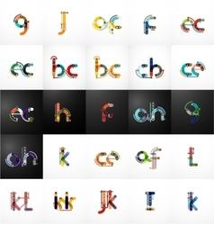 Set of initial branding letter logo vector image