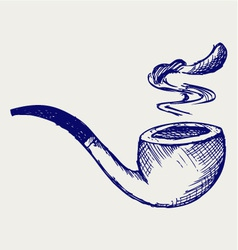 Tobacco pipe vector image