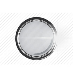 Metal shiny surface button vector