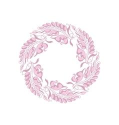 light rose color Art Nouveau style vector image