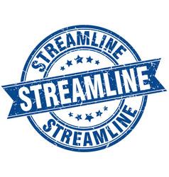 Streamline round grunge ribbon stamp vector