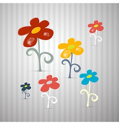 Abstract Retro Flowers vector image