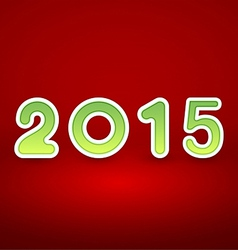 2015 New Year image on red background with white vector image vector image