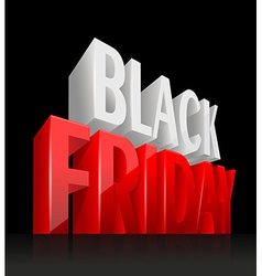 3D Black Friday vector image vector image