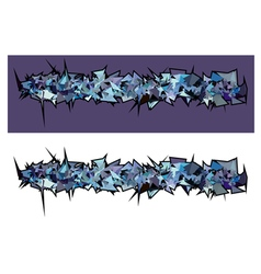 graffiti abstract purple spiked shape pattern vector image