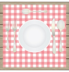 Table setting etiquette vector image