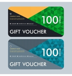Gift voucher template with modern pattern design vector