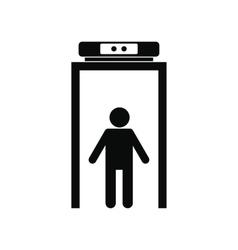 Metal detector black simple icon vector