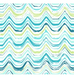 Colorful stripes seamless wavy pattern vector