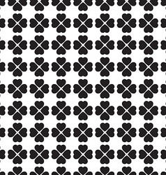 Monochrome seamless pattern with clover leaves the vector image