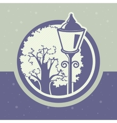 lantern and tree vector image
