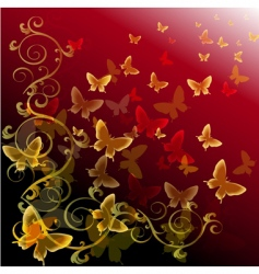 abstract colorful background with butterflies vector image