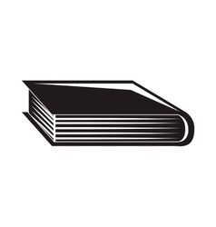 black silhouette book with cover vector image
