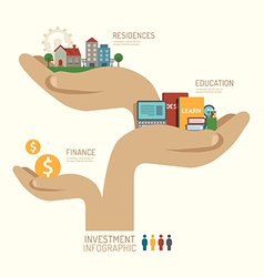 Business investment concept infographic vector image