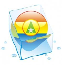 Cabinda flag vector image vector image