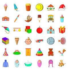 Child icons set cartoon style vector