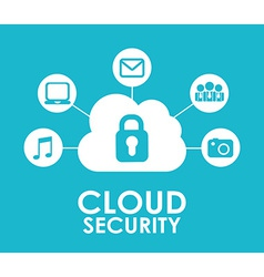 cloud security vector image